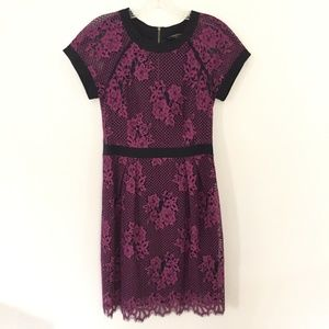 NANETTE LEPORE Cocktail Party Dress with Lace Sz 2